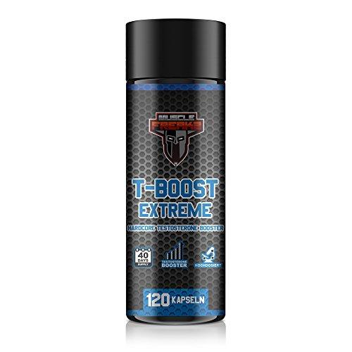T-Boost Extreme, Hardcore Testosteron-Booster, 120 Kapseln für 40-Tage Kur, 10-Komponenten, mit Bockshornklee + Maca + Ginkgo + Ginseng