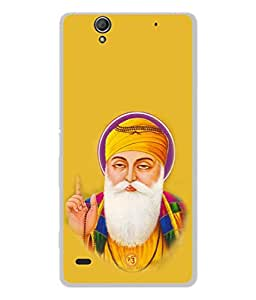 PrintVisa Holy Guru Nanak Dev High Gloss Designer Back Case Cover for Sony Xperia C4 Dual :: Sony Xperia C4 Dual E5333 E5343 E5363
