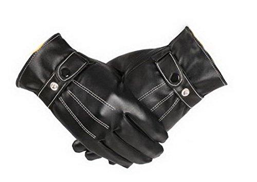 Kylo Handschuhe Cosplay Zubehör Herren PU Schwarz Smart Touch Screen Winter Handschuhe für Halloween Prop