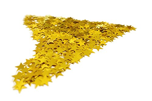 Sterne Einhorn Herz Gold Silber Rot Blau Orange Schwarz Lila Pink Hell-Blau Grün Braun Türkis Violett 15g 45g 100g 450g 1000g (100g, Gold) ()