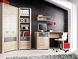 furniture24_eu Jugendzimmer Set Wohnwand YOOP Eckschrank Schreibtisch Regal Hängeregal