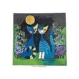 Fertig-Bild - Rosina Wachtmeister: Height Romance 39 x 39 cm Katzen Paar Liebe Romantik Mond