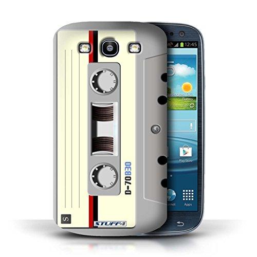 Kobalt® Imprimé Etui / Coque pour Samsung Galaxy S3/SIII / Cassette Vidéo VHS conception / Série Retro Tech Compact Cassette Audio