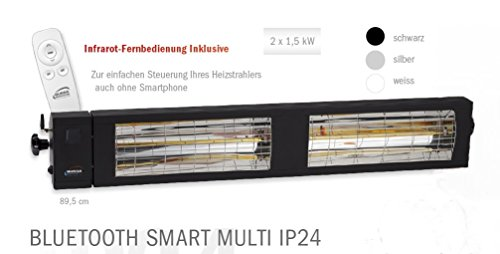 SMART MULTI BLUETOOTH IP24 2 x 1.500 Watt Schwarz