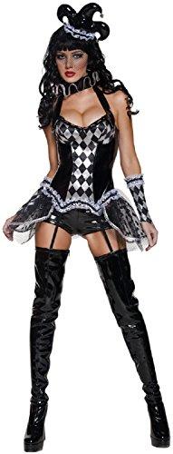 Smiffys costume halloween donna arlecchino-m