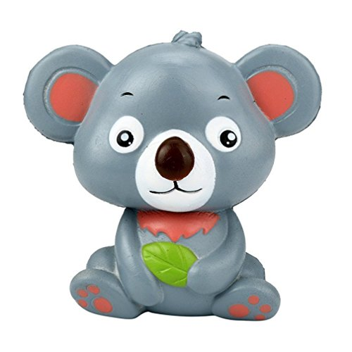 Kfnire squishies jumbo koala slow rising kawaii perfumados blandos juguetes de animales (gris)