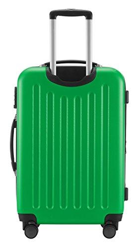HAUPTSTADTKOFFER® Hartschalen Koffer SPREE 1203 · NEU 4 Doppel-Rollen · MATT · TSA Zahlenschloss · + KOFFERANHÄNGER (Apfelgrün, Set) - 5