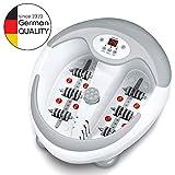 Beurer FB50 - HidroMasaje para pies multifunción, pantallaLED, color blanco y gris
