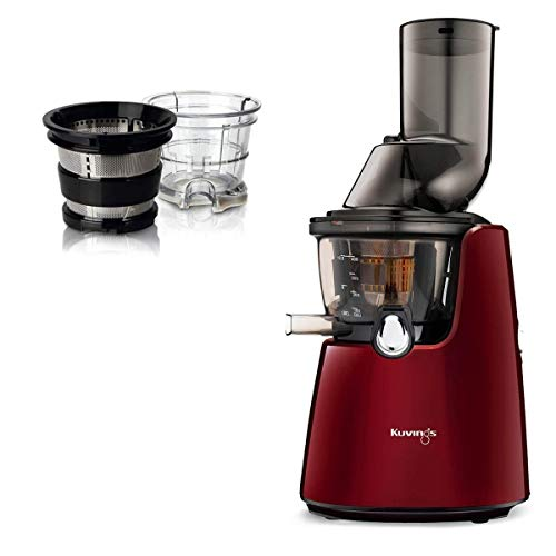 Kuvings® C9500 Entsafter, vertikal,Rot + Set für Smoothies und Sorbet