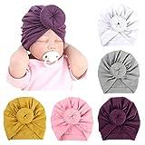 De feuilles 5 Baby Mütze Neugeborene Jungen Mädchen Turban Knoten Stirnband Kopfbedeckungen