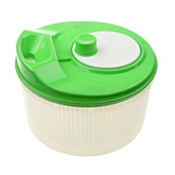 Kitchen Cook Aid Fruit Vegetable Salad Spinner Dryer Colander Strainer Sifter - green, 6 x 9