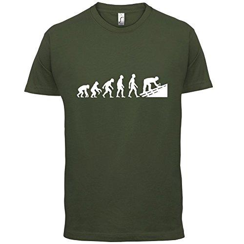 Evolution Of Man Dachdecker - Herren T-Shirt - 13 Farben Olivgrün