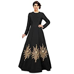64d96012c6 Siddeshwary Fab Women s Multi Color Taffeta Silk Embroidered Gown for Women  (Red Blue Black) ...