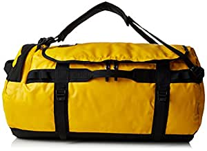 The North Face Water Resistant Base Camp Unisex Outdoor Travel Bag available in Gold/TNF Blac - 95 Litres