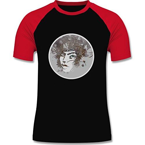 Sonstige Berufe - Circle mind - creative brainstorming - zweifarbiges Baseballshirt für Männer Schwarz/Rot