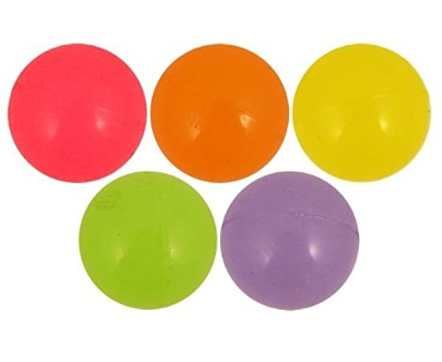 10 x Glow In The Dark - Assorted Colours Bouncy Jet Balls 30mm by Henbrandt (Dark In Bouncy Glow Balls The)