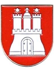Pin Anstecker Hamburg Wappen