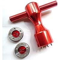 mamimamih 2x 20g Pesos de golf rojo y llave para Titleist Scotty Cameron California Newport Putters Rojo