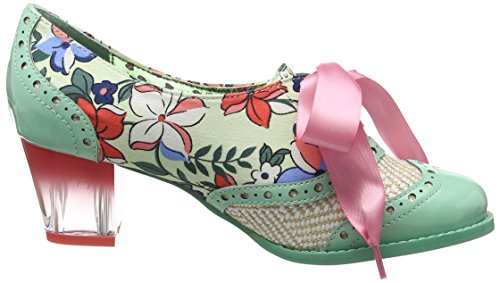 Poetic Licence by Irregular Choice Corporate Beauty, Escarpins femme Multicolour (Mint)
