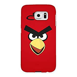 Stylish Red Yelo Peak Back Case Cover for Samsung Galaxy S6
