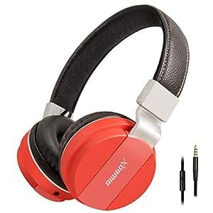 Riwbox K6 Stereo leggero pieghevole cuffie archetto regolabile cuffie con microfono da 3,5 mm, per cellulari, smartphone, iPhone, computer portatile MP3/4 auricolari