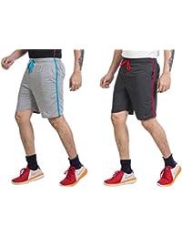 V D Sales Men's Cotton Shorts - Set of 2