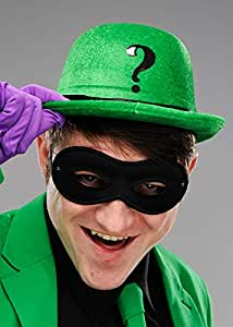325edef5307 The Riddler Style Green Bowler Hat with Question Mark  Amazon.co.uk ...