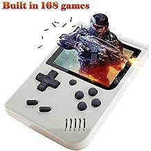 XinXu Consolas de Juegos Portátil Game Console 3.0 Pulgadas Videojuegos Portátil con 168 Juegos para Niños