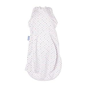 The Gro Company – Saco de dormir cómodo y caliente para recién nacido/envoltura (de 2,3 a 5,4 kg, color gris marga…
