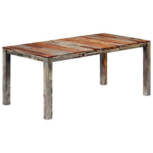 vidaXL Sheesham-Holz Massiv Esstisch Küchentisch Esszimmertisch Holztisch Speisetisch Tisch Massivholztisch Palisander Grau 180x90x76cm