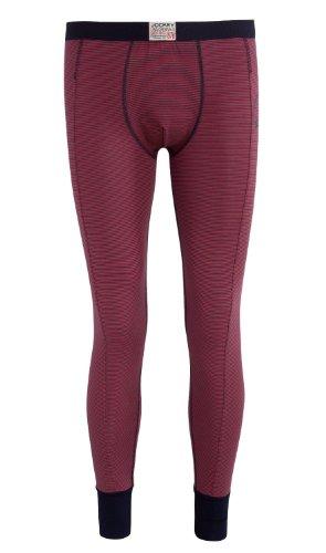 Jockey - Pantaloni termici -  uomo Red Navy Fine Stripe