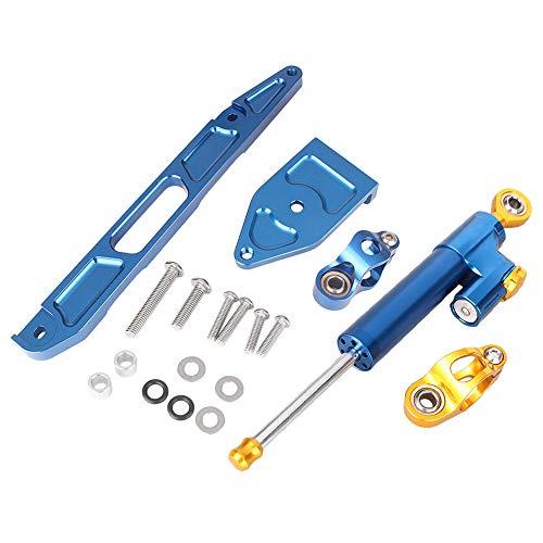 GZYF Kit d'amortisseurs de direction CNC pour Yamaha XJR1300 2002-2015 avec kits de support 07 08 09