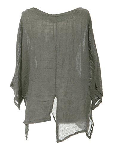 Desconocido - Camicia - Basic -  donna Khaki