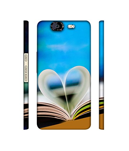 Casotec Love Book Designer 3D Printed Hard Back Case Cover for Micromax Canvas Knight A350