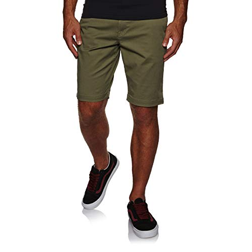 Volcom-drop (Volcom Herren Frckn MDN Strch Sht Shorts-Chino, Army, 31)