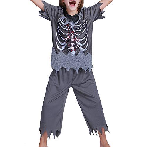 Halloween Kind kostüm S.CHARMA Kostüme für Erwachsene Cosplay Unheimlich Kleidung Halloween-Set Performance-Kostüm Knochen Zombie Anzug