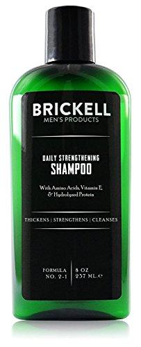 Brickell Men's Stärkendes Shampoo für Männer für den Täglichen Gebrauch - Natürlich und Organisch mit Minze und Teebaumöl - 8 oz