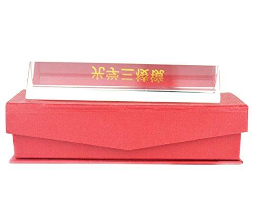 Optisches Glas dreieckig Prism Triple Prism für Physik Lehre Light Spectrum Optics Kits 15cm/150mm hergestellt von Generic