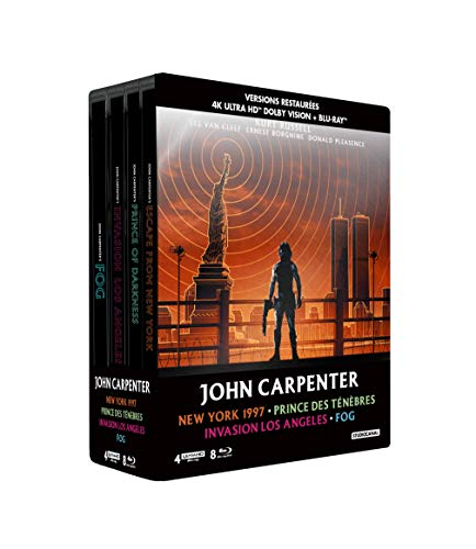 John Carpenter - Coffret : New York 1997 + Prince des ténèbres + Invasion Los Angeles + Fog [4K Ultra HD + Blu-ray + Blu-ray bonus - Édition boîtier SteelBook]