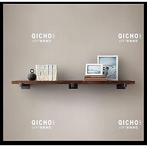 Retro parola Ciak in legno mensola da parete da parete appeso armadio da parete creativa libreria mensola set-top box, 150* 20