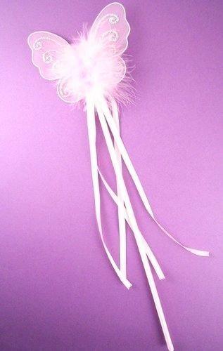 Schmetterling Prinzessin Fee Zauberstab, Glitzer Detail Bändern Fancy Kleid Flower Girl