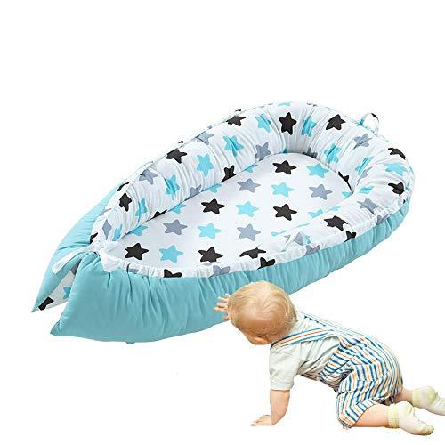 Hamkaw Baby-Nest, Baby Liegekissen, Kuschelnest Babynestchen Baumwolle Baby Stubenwagen Liege Krippen, Tragbares Babybett Abnehmbare - für Schlafzimmer Reise - Eine Baby-krippe