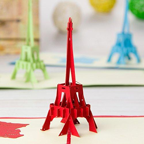 La Tour Eiffelturm 3D Pop up Grußkarten Jahrestag Baby Geburtstag Ostern Halloween Mutter Vater New Home NEW YEAR Thanksgiving Valentine Hochzeit Weihnachten -