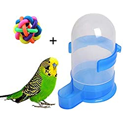 Hianiquaime® 500ml Bebedero para Pajaros Comedero Loros Dispensador Automático de Agua para Mascotas Aves Loros Grandes Puede ser Colgado en Jaula Accesorios de Pajaros