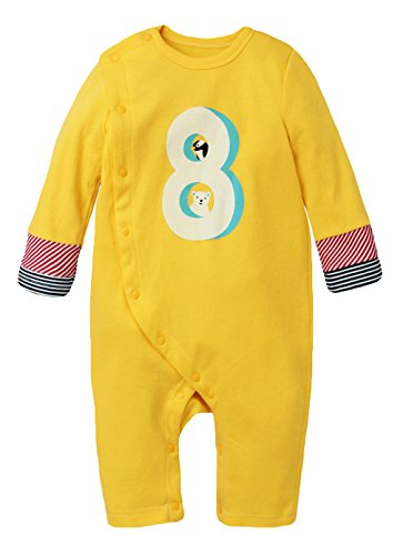 3c85ab7108dbd Y-BOA Bodysuit Grenouillère Barboteuse Manche Longue Pyjama Vêtement Enfant  Bébé Jaune Size3