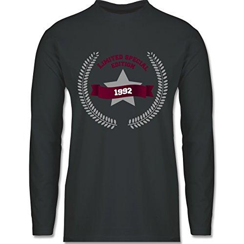 Geburtstag - 1992 Limited Special Edition - Longsleeve / langärmeliges T-Shirt für Herren Anthrazit