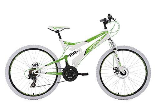 KS Cycling 183M VTT Tout Suspendu Blanc 26'