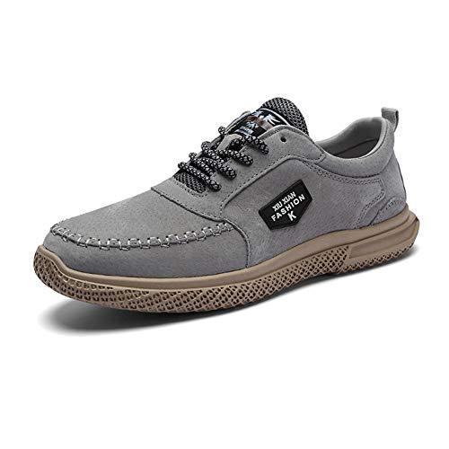 Mens Deck Schuhe Slip on Casual Sommer Boat Shoe Loafers Mode Sneaker Laufen im Freien,Gray,41 - Herren Loafer Gurt