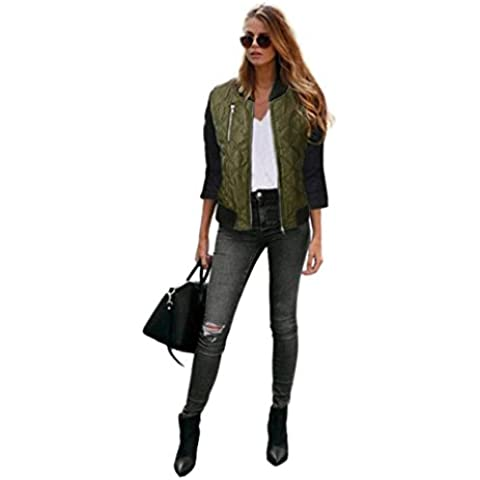 FEITONG Escudo manera de las mujeres la algodón chaqueta del foso Parka Outwear Cardigan