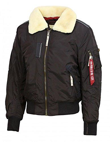 "ALPHA INDUSTRIES Injector III Bomber Jacket | Vintage Brown XLarge 42\"" Chest"